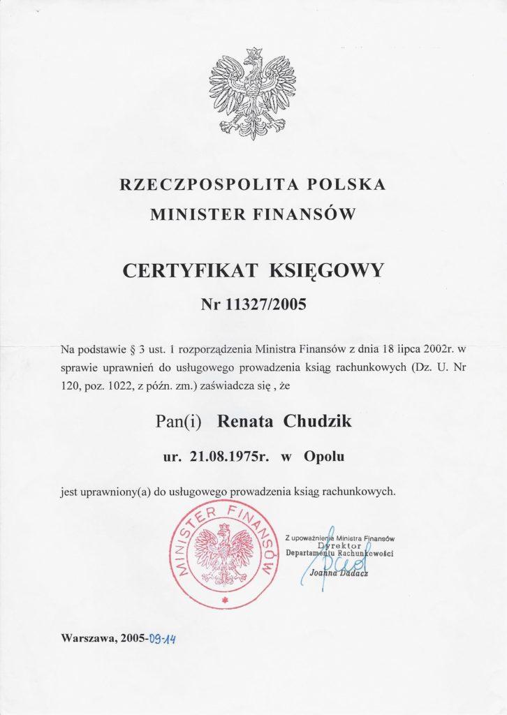 certyfikat MF